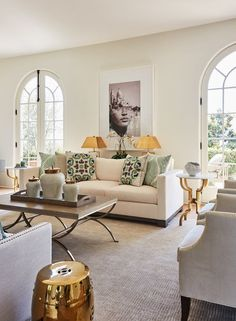 Montecito Sophisticated Living Living Coastal ItalianteTuscan Transitional by DTM Interiors