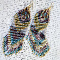 Perles de graine perle boucles d'oreilles par AmorphiaDesigns