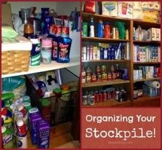 See my tips for organizing your stockpile.  Nothing extreme here, just realistic stockpiling. Learning how to stock up can save money for your family.