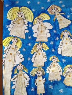 Christmas Angel Crafts, Christmas Art, Christmas Projects, Christmas Themes, Elf Drawings, Christmas Concert, Fairytale Art, Winter Art, Scandinavian Christmas
