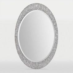 Ren-Wil Sirens Oval Wall Mirror - 24W x 35H in., Silver