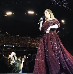 Adele performing at 'Mt Smart Stadium', Auckland, New Zealand (Mar. Adele Quotes, Adele Concert, Auckland, Musicians, Actors, Formal Dresses, Fashion, Adele Songs, Dresses For Formal