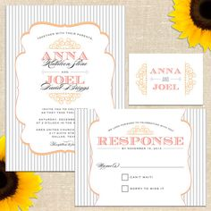Anna Wedding Invitation Suite