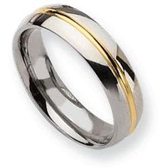 Daniels Jewelers :: Titanium Inlayed Wedding Band