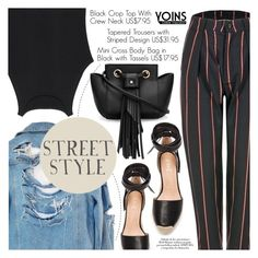 """Yoins 20:Street Style"" by pokadoll ❤ liked on Polyvore featuring High Heels Suicide, Raye and yoins"
