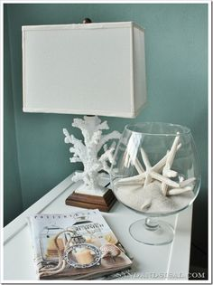 bowl decor and paint color - 'Atmospheric' by Benjamin Moore