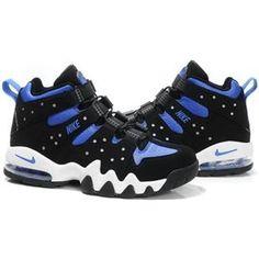 http://www.asneakers4u.com/ Charles Barkley Shoes   Nike Air Max2 CB 94 Black/Blue