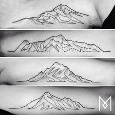 #mountains #moganji #singleline by moganji