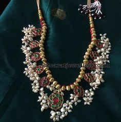 Gold Balls Sets with Guttapusalu - Jewellery Designs