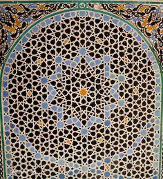 Al-Attarine Madrasa in Fes, Morocco Morrocan Patterns, Islamic Patterns, Arabesque, Geometric Designs, Fes, Morocco, History, Historia, Block Patterns