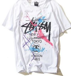 Stussy Wörldwide Splatter Shirt Stitched comfortable and premium cotton Streetwear shirt. Material: 100% Cotton