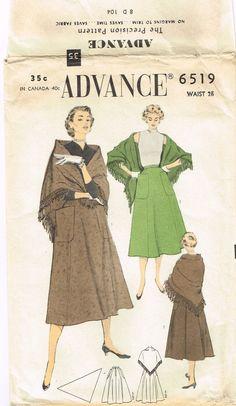 Original 1950's Classic Patch Pocket Skirt and by FaithfulFabrics, $14.99