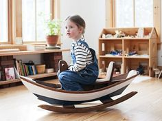 Wow! This little boat for the playroom.