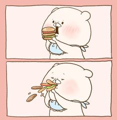 埋め込み Cute Animal Drawings, Cute Drawings, Cute Characters, Fictional Characters, Funny Illustration, Cute Bears, Cute Images, Polar Bear, Food Art