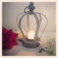 tea light holder crown lantern by made with love designs ltd | notonthehighstreet.com