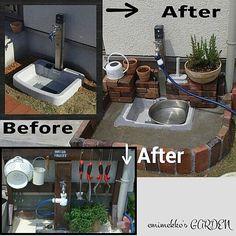女性で、Otherのbefore→after/庭/ガーデン雑貨/ガーデン/手作りの庭/水栓…などについてのインテリア実例を紹介。「2013年春 『手作りの庭』作りはここから始まりました ╰(*´︶`*)╯」(この写真は 2015-06-22 12:45:38 に共有されました)