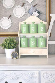 Cute shelf and canister redo ~ Paddington Way
