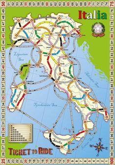 Ticket to Ride Fan Map: Italia
