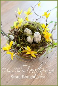 HOW TO FEATHER A STORE BOUGHT NEST
