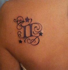 Gemini Tattoo...I'd prefer no initials though