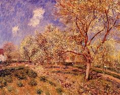 Spring at Veneux - Alfred Sisley