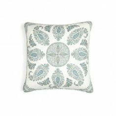Peter Dunham   Blue and Green Samarkand Cushion   goop.com
