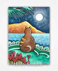 Shooting Star Cat by HollyvisionArt