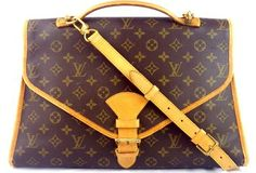 Louis Vuitton Beverly Briefcase Pre-owned With Strap Brown Messenger Bag $569