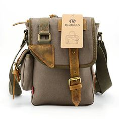 BLUBOON(TM) Small Men's Messenger Bags Crossbody Bags Canvas Bags Genuine Leather Bags Single Shoulder (Army Green) BLUBOON http://www.amazon.com/dp/B00SJ5F35K/ref=cm_sw_r_pi_dp_27.6ub12KZKCB