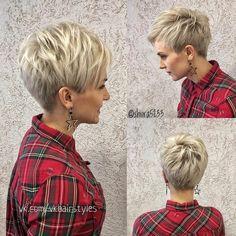 Funky Short Hair, Short Thin Hair, Short Grey Hair, Short Hair With Layers, Short Hair Cuts For Women, Short Choppy Haircuts, Pixie Haircut Styles, Haircuts For Fine Hair, Cute Hairstyles For Short Hair