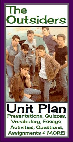 This unit plan has everything you will need to teach S.E. Hinton's novel The Outsiders. With over 300 pages/slides of eye-catching powerpoints, printable assignments, questions, vocabulary, and interactive class activities, you will have everything you need! #Outsiders