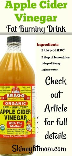 Cider Vinegar for Weight Loss in 1 Week: how do you take apple cider vinegar to lose weight? Here are the recipes you need for fat burning and liver cleansing. Ingredients 2 tbsp of AVC 2 tbsp of lemon juice 1 tbsp of Honey 1 glass water Directions Healthy Detox, Healthy Drinks, Healthy Eating, Detox Foods, Healthy Weight, Acv Drinks, Beverages, Healthy Smoothies, Healthy Snacks