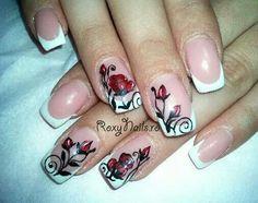 Roses nail art...