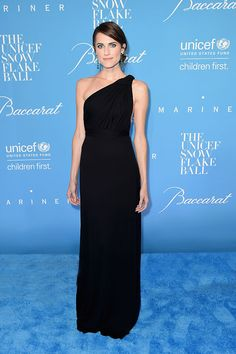 Carolina Herrera dressed actress Allison Williams in a Spring 2017 silk gown to the 2016 UNICEF Snowflake Ball in New York City on Tuesday, November 29th, 2016.