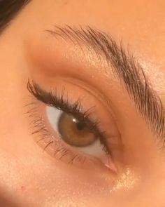 Makeup Eye Looks, Eyeshadow Looks, Eyeshadow Makeup, Pink Eyeliner, Brown Eyeliner, Makeup Brushes, Eyebrow Makeup, Skin Makeup, Makeup Eyebrows