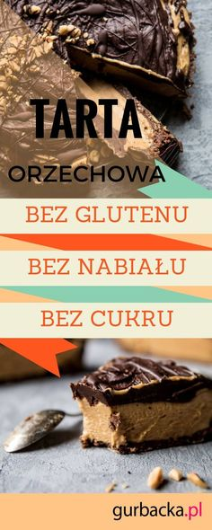 tarta z kremem orzechowym Vegan Cake, Vegan Cheesecake, Healthy Sweets, Vegan Gluten Free, Fit, Recipes, Pies, Shape, Recipies