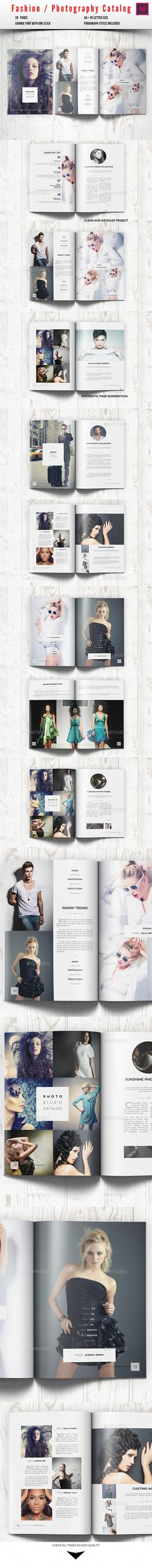 Fashion Photography Catalog / Brochure Template #design Download: http://graphicriver.net/item/fashion-photography-catalog-brochure/10277338?ref=ksioks