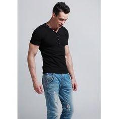 Algodón delgado camiseta con cuello en V 2013  €24.99