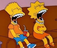 Image about funny in Mood by pekycy on We Heart It Lisa Y Bart, Bart And Lisa Simpson, Homer Simpson, Cartoon Icons, Cartoon Memes, Cartoon Art, Cartoons, Simpsons Funny Quotes, Simpsons Art