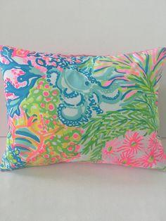 Lilly Pulitzer Pillow Dorm Pillow Sunroom Pillow Beach House
