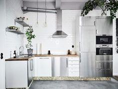 salón cocina abierta Mini piso para un artista interiores pequeños estilo nórdico escandinavo espacios diáfanos decoración mini pisos decoración en neutros blog decoracion interiores