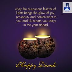 """May millions of lamps illuminate your life along with endless joy, prosperity, health and wealth.  Jaycee Homes wishes you and your family a very """"Happy Diwali""""."""