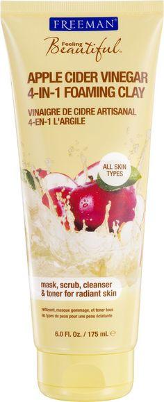 4-in-1 Apple Cider Vinegar Foaming Clay Mask SO GOOD.