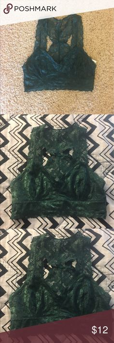 Bralette NWT jade green Lace bralette from Tillys! Tilly's Intimates & Sleepwear