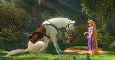"Rapunzel and Maximus Disney's ""Tangled"" (2010)."