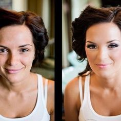 Flawless, glowing, contour, beauty, smokey, eye makeup, Before and after photos, Bridal makeup by www.probeautymakeup.com & photography by http://facebook.com/dinachmutphotography