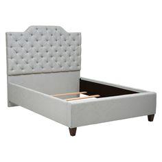 Home Meridian Damask Upholstered Platform Bed - DS-D006-250-539