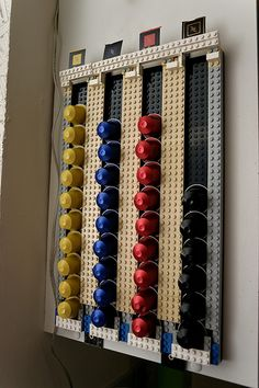diy storage organizers coffee nespresso capsule holder. Black Bedroom Furniture Sets. Home Design Ideas