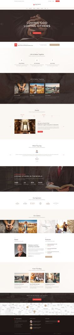 Pastor'e is a clean and light WordPress theme created for churches, prayer groups, christian, charity and non-profit organizations.