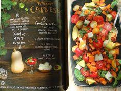 ...a quiet life...: forest feast salads...Butternut Caprese Salad